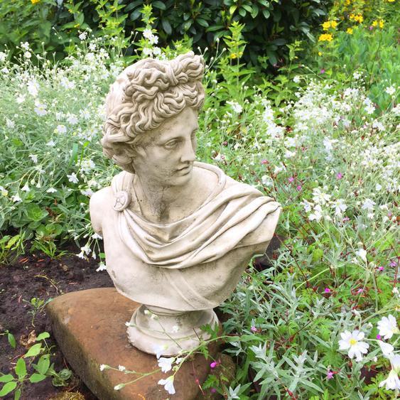 Apollo Figur Garten Steinfiguren antik Skulpturen Park - Geschenke Bogensport