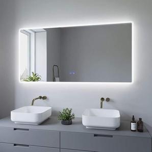 AQUABATOS® 140 x 70 cm LED Badspiegel mit Beleuchtung Badezimmerspiegel Beleuchtet Wandspiegel Kaltweiß und Warmweiß Licht Dimmbar lichtspiegel Beschlagfrei Antibeschlag BORAS-Serie 140x70cm