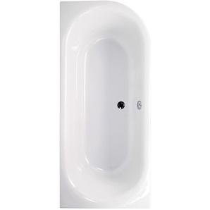 AquaSu I Acryl - Badewanne ovO II I 180 x 80 cm I Weiß I Rechts I Wanne I Badewanne I Bad I Badezimmer