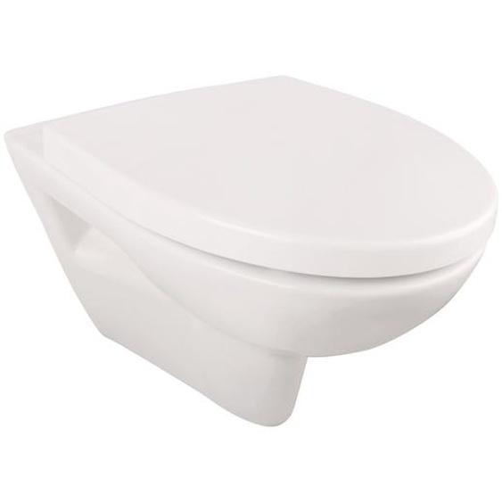 AquaSu Wand-WC Igeno spülrandlos 34,5 x 36,5 x 51 cm, inkl. WC-Sitz
