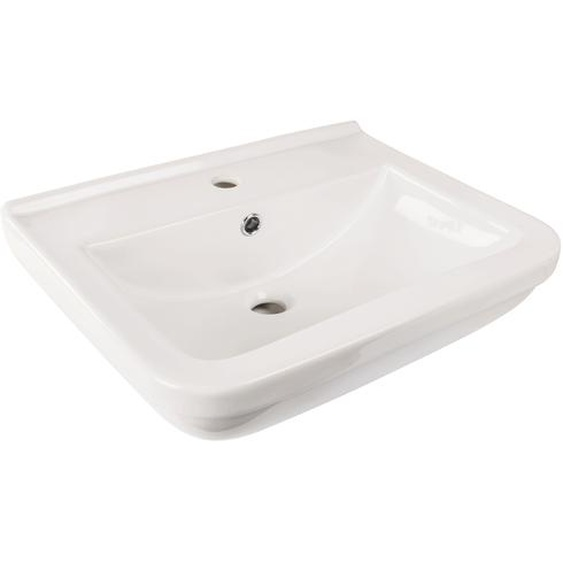 AquaSu Waschtisch Quadra 58 cm, weiß mit Clean-Glasur