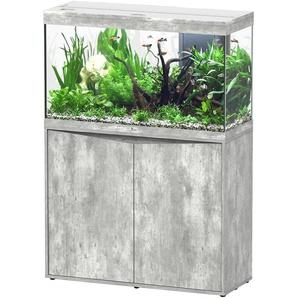 Aquatlantis Aquarien-Set Splendid 200, BxTxH: 102x40x144 cm, 249 l, mit Unterschrank in steinoptik B/H/T: 101,7 cm x 61,1 40 l grau Aquarien Aquaristik Tierbedarf