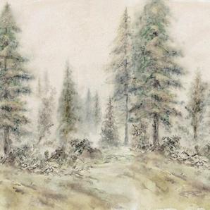 Architects Paper Fototapete »Atelier 47 Aquarel Forest 2«, glatt, Wald, (4 St)