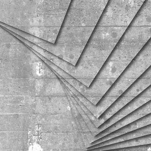 Architects Paper Fototapete Atelier 47 Concrete Art 2, Steinoptik B/L: 5 m x 2,7 m, St. grau Fototapeten Tapeten Bauen Renovieren