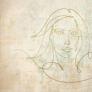 Architects Paper Fototapete »Atelier 47 Golden Line 2«, glatt, abstrakt, (4 St)