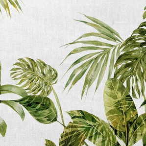 Architects Paper Fototapete Atelier 47 Tropical Leaves Artwork 1, botanisch B/L: 4 m x 2,7 m, St. grün Fototapeten Tapeten Bauen Renovieren