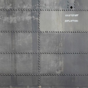 Architects Paper Fototapete Heli, Metall Optik, Vlies, glatt B/L: 6 m x 2,5 m, St. grau Fototapeten Tapeten Bauen Renovieren