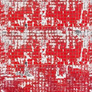 Architects Paper Fototapete Old Tiles Red, Fliesen in Vintage Optik, Vlies, glatt B/L: 4 m x 2,7 m, St. rot Fototapeten Tapeten Bauen Renovieren