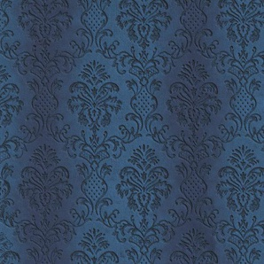 Architects Paper Fototapete Ornament Fluffy, Barock, mit Ornamenten, Vlies, glatt B/L: 5 m x 2,5 m, St. blau Fototapeten Tapeten Bauen Renovieren