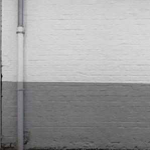 Architects Paper Fototapete Painted Bricks, Backstein Mauer, Vlies, glatt B/L: 5 m x 2,5 m, St. weiß Fototapeten Tapeten Bauen Renovieren