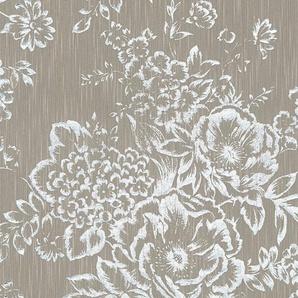 Architects Paper Textiltapete »Metallic Silk«, samtig, floral, matt, glänzend, mit Blumen