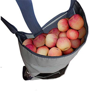 Ardermu Garten Obst Pflückschürze - Groß Früchte sammeln Tasche Schwerlast Oxford-Tuch Küche Harvest Green Storage Pockets für Obst Gemüse mit Einstellbarer Größe für Frauen Männer