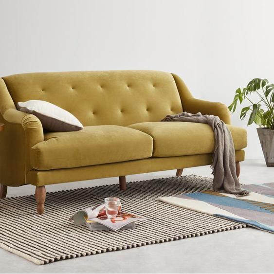 Ariana 3-Sitzer Sofa, Samt in Ocker