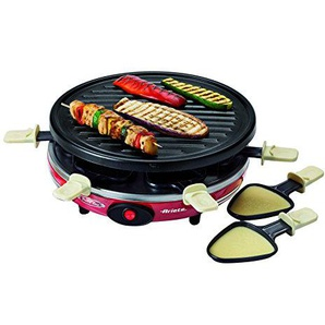 Ariete 00C079500AR0 795 Party Time Raclette Maker im Retrostyle der 50-er Jahre, 800 W, rot