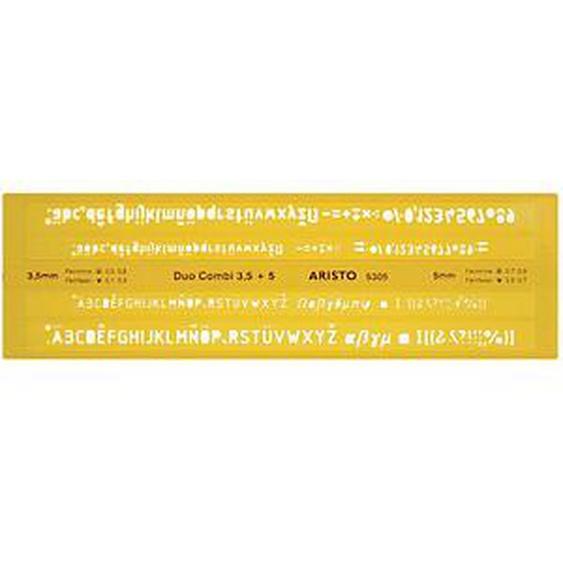 ARISTO Schriftschablone gelb