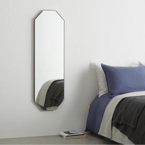 Arles achteckiger Spiegel (40 x 120 cm), Schwarz