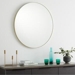 Arles runder Spiegel (85 cm), Messing