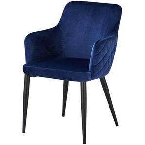 Armlehnenstuhl  Heiner ¦ blau ¦ Maße (cm): B: 59 H: 84 T: 63 Stühle  Esszimmerstühle  Esszimmerstühle mit Armlehnen » Höffner