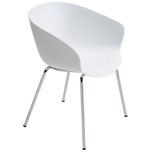 Armlehnstuhl Altino Weiß, 78x58x60 cm
