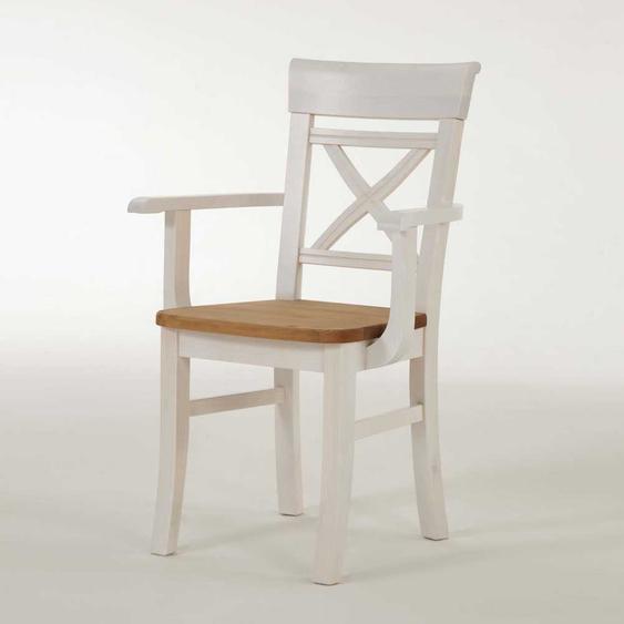 Armlehnstuhl aus Kiefer Massivholz Armlehnen (2er Set)