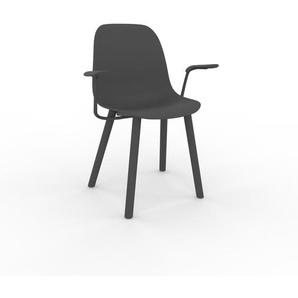 Armlehnstuhl in Anthrazit 49 x 82 x 62cm einzigartiges Design, konfigurierbar