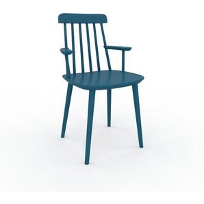 Armlehnstuhl in Blau 43 x 82 x 53cm einzigartiges Design, konfigurierbar