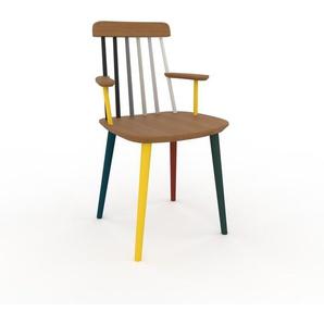 Armlehnstuhl in Eiche 43 x 82 x 53cm einzigartiges Design, konfigurierbar