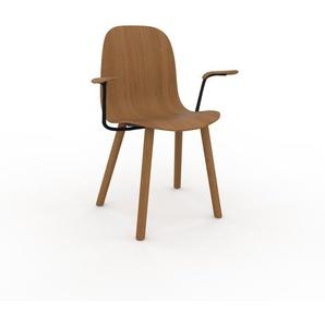 Armlehnstuhl in Eiche 49 x 83 x 62cm einzigartiges Design, konfigurierbar