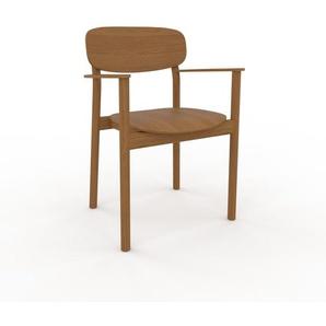 Armlehnstuhl in Eiche 52 x 82 x 58cm einzigartiges Design, konfigurierbar