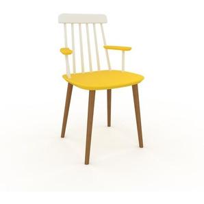 Armlehnstuhl in Gelb 43 x 82 x 53cm einzigartiges Design, konfigurierbar