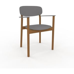 Armlehnstuhl in Grau 52 x 82 x 58cm einzigartiges Design, konfigurierbar