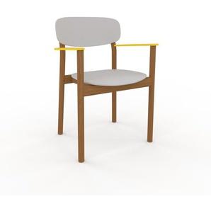 Armlehnstuhl in Lichtgrau 52 x 82 x 58cm einzigartiges Design, konfigurierbar