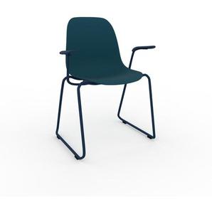 Armlehnstuhl in Marineblau 49 x 82 x 62cm einzigartiges Design, konfigurierbar