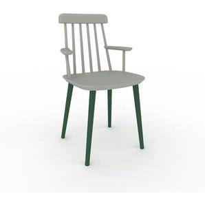 Armlehnstuhl in Sandgrau 43 x 82 x 53cm einzigartiges Design, konfigurierbar