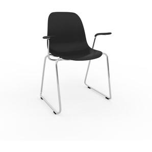 Armlehnstuhl in Schwarz 49 x 82 x 62cm einzigartiges Design, konfigurierbar