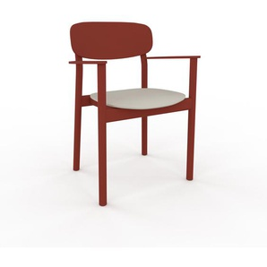 Armlehnstuhl in Sandgrau 52 x 82 x 58cm einzigartiges Design, konfigurierbar