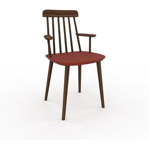 Armlehnstuhl in Rot 43 x 82 x 53cm einzigartiges Design, konfigurierbar