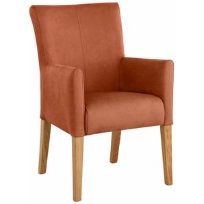 Home affaire Armlehnstuhl bezogen mit Web- oder Strukturstoff, »King«, FSC®-zertifiziert