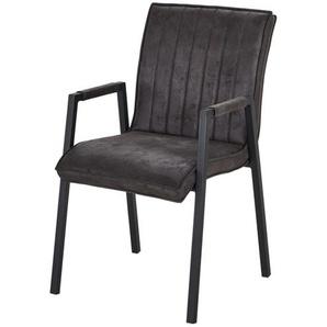 Armlehnstuhl  Nelson ¦ schwarz ¦ Maße (cm): B: 51 H: 88 T: 64 Stühle  Esszimmerstühle  Esszimmerstühle mit Armlehnen » Höffner