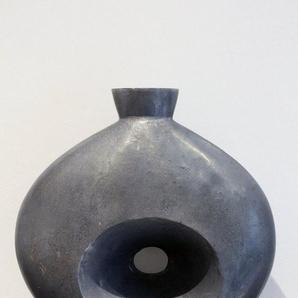 Arnusa Dekovase »Design Metall Vase 39x 33 cm Türkis/Grau«, Schwere Ausführung