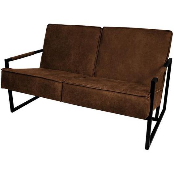 ars manufacti Sofa Rhode 2-Sitzer Mittelbraun Mischgewebe 125x74x82 cm