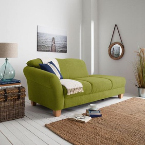 Ars Natura Recamiere Cebu Grasgrün Webstoff 194x84x91 cm
