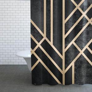 Art Deco Black-Duschvorhang
