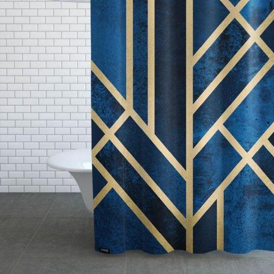 Art Deco Midnight-Duschvorhang