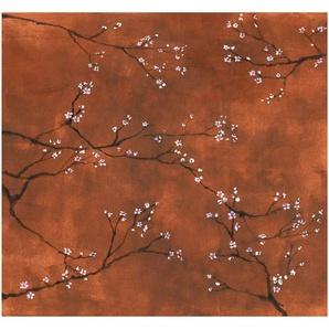 Art for the home Fototapete Chinesische Blüte, botanisch, Terra - 300x280cm B/L: 3 m x 2,8 m, 1 St. braun Fototapeten Tapeten Bauen Renovieren