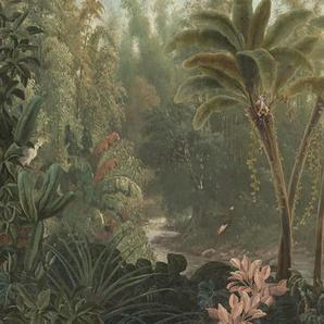 Fototapete »Dschungel«, Grün, 300x280 cm