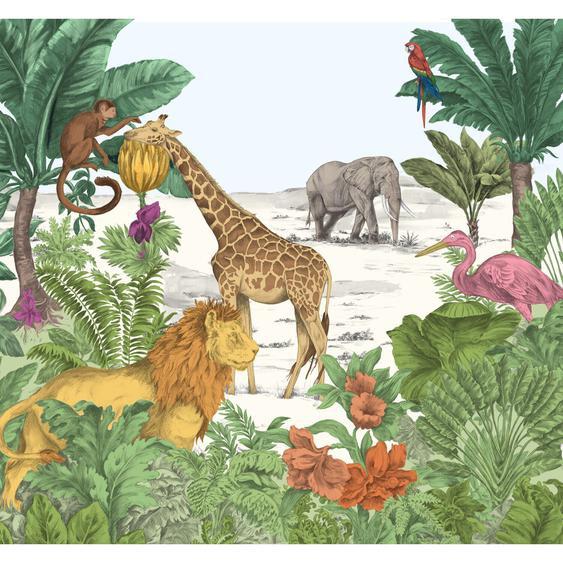 Art for the Home Fototapete Vlies Dschungel in Wasserfarben