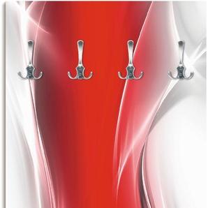 Artland Garderobenpaneel Kreatives Element Rot für Ihr Art-Design, platzsparende Wandgarderobe aus Holz mit 6 Haken, geeignet kleinen, schmalen Flur, Flurgarderobe B/H: 60 cm x 120 rot Garderobenpaneele Garderoben