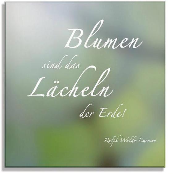 Artland Glasbild Zitatenbild, Pusteblumen-Samen, Sprüche & Texte, (2 St.) B/H: 100 cm x 50 grün Glasbilder Bilder Bilderrahmen Wohnaccessoires