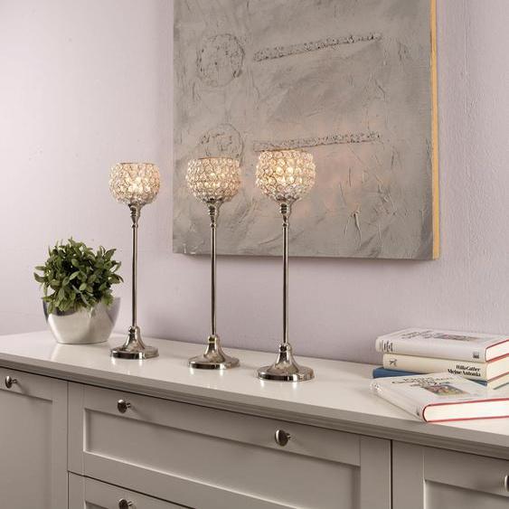 ARTRA Kerzenständer Marie, L Einheitsgröße silberfarben Kerzenhalter Kerzen Laternen Wohnaccessoires